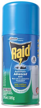 30% OFF: Inseticida Automático RAID Advanced Refil 185g!