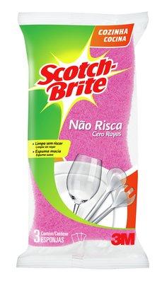 30% OFF: Esponja SCOTCH BRITE Não Risca com 3 Unidades!