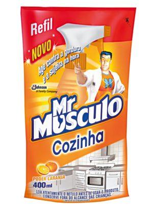 30%: Limpador Mr MÚSCULO Cozinha Refil 400ml!