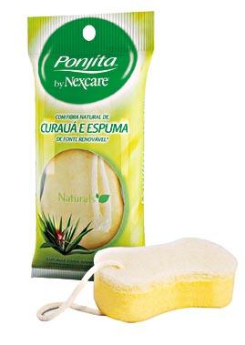 30% OFF: Esponja para Banho PONJITA 3M Natural de Curauá e Espuma