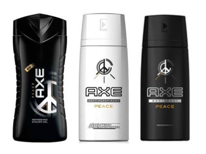 30% OFF: Kit AXE PEACE (Antitranspirante ou Shower Gel)