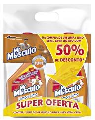 30% Off: Limpador Tira Limo Mr MUSCULO Embalagem com 2 Unidades!