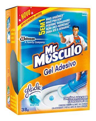 30% Off: Desodorizador de Sanitário Mr MUSCULO Gel Adesivo 38g!