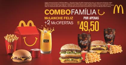 Combo Família por apenas R$49,50