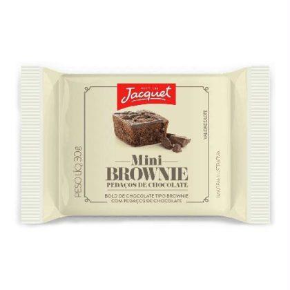 Mini Bolo de Chocolate Tipo Browine com Pedaços de Chocolate ou Avelã JACQUET 30g!