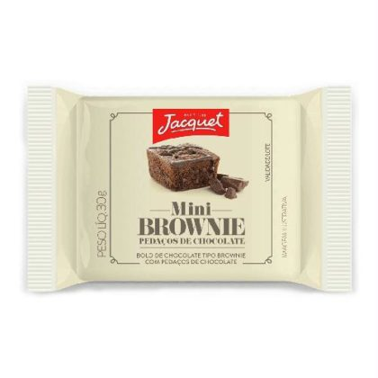 Mini Bolo de Chocolate Tipo Brownie Pedaços de Chocolate ou Avelã JACQUET 30g!
