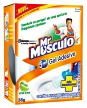 Desodorizador de Sanitário Mr MUSCULO Gel Adesivo 38g!