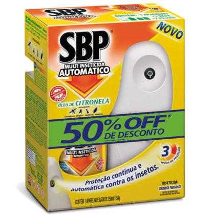 Inseticida Automático SBP com Óleo de Citronela 1 Aparelho + Refil Spray 250ml!