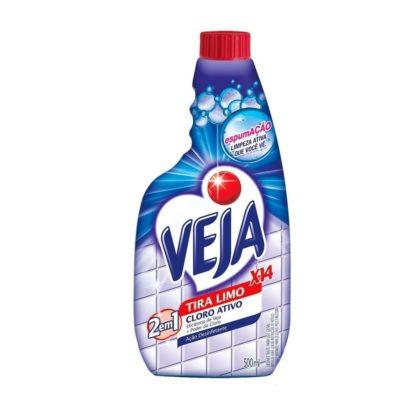 30% OFF: Limpador para Banheiro VEJA X 14 Tira Limo Cloro Ativo Refil 500ml!