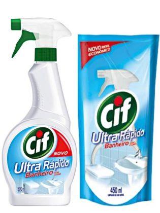 Limpador para Banheiro CIF Utra Rápido Aparelho 500ml GRÁTIS Refil econômico!