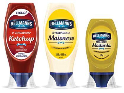 Ketchup HELLMANN'S 380g + Maionese HELLMANN'S 335g GRÁTIS Mostarda HELLMANN'S 170g!