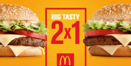 Big Tasty 2x1: Pague 1 e leve 2