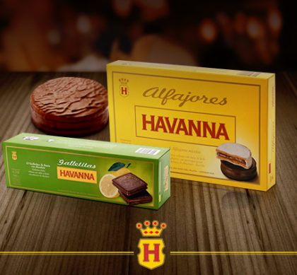 Combo Deseos Havanna: 1 Caixa de Alfajor 6 unidades + 1 Caixa de Galletitas 12 unidades