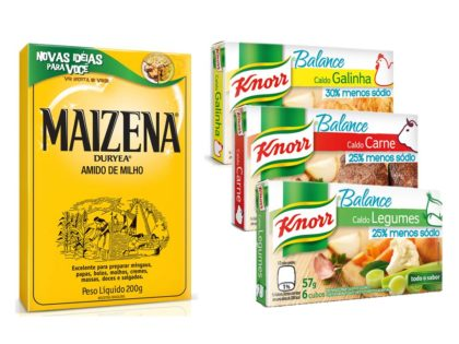 Caldo KNORR Balance 57g + Amido de Milho MAIZENA Caixa 200g!