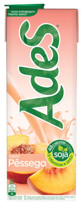 Bebida à Base de Soja ADES Sabor Pêssego 1 Litro!