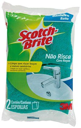 Esponja Limpa Banheiro SCOTCH BRITE com 2 Unidades!