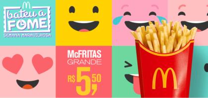 McFritas Grande por apenas R$5,50 - Bateu a Fome das 15h às 18h