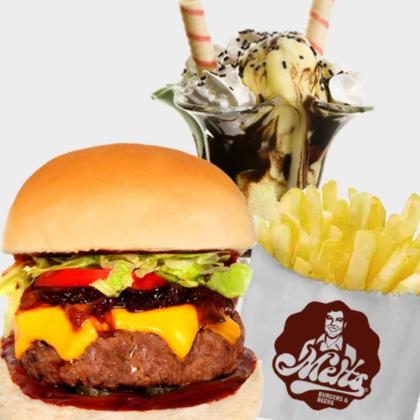 Combo Tenesse Burger + Batata Individual + Taça Melts 2×1: Pague 1 e leve 2 por R$57!