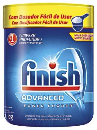 Lava Louças em Pó FINISH Power 1 Kg!