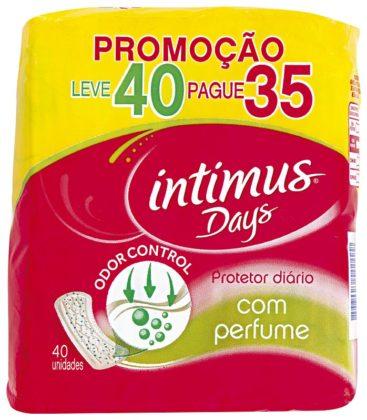 Protetor Diário Intimus Com Perfume L40 P35 unidades!
