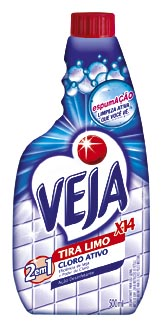 Limpador para Banheiro VEJA X 14 Tira Limo Cloro Ativo Refil 500ml!