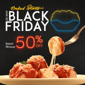 Black Friday: 50% OFF no Baked Nhoque (SOMENTE 20/11)