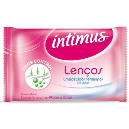 Lenços Umedecidos Feminino ÍNTIMUS sem Perfume Pacote com 16 Unidades!