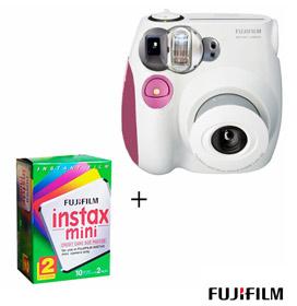 EXCLUSIVO: Câmera Instantânea Instax Mini 7s Rosa e Branca + Filme!