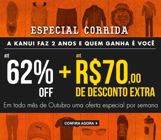 Até 62% de desconto + até R$70,00 de desconto extra no aniversário da Kanui!