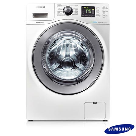 Lavadora e Secadora 10,1kg Samsung Front Load c/ Eco Bubble, Air Wash e Diamond Drum