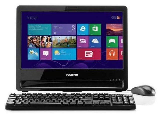 Computador All In One Positivo HD 320 GB LED 18.5