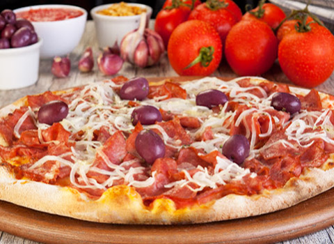 Pizza Grande com 40 opções de sabores