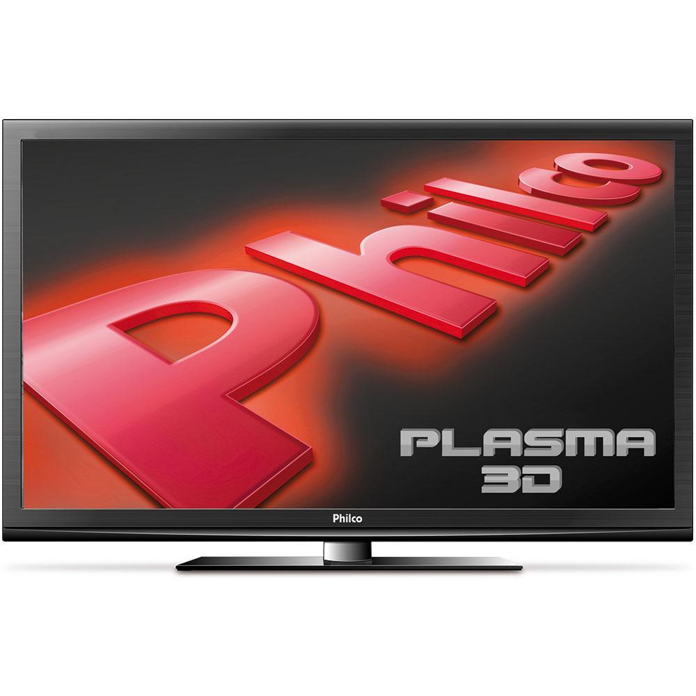 Smart Tv Plasma 3d Philco 51? Ph51a36psg Hd Hdmi Usb Funcao Ginga Oculos 3d Ativo
