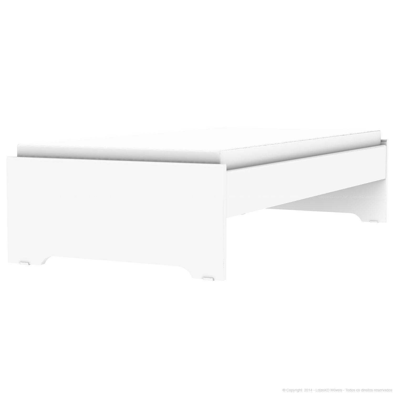 Base Para Colchao Box Solteiro Somier Unique Branco