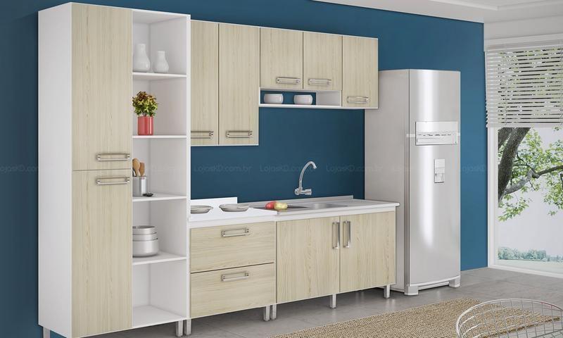 Cozinha Modulada Completa 5 Modulos Concept Branco Bali