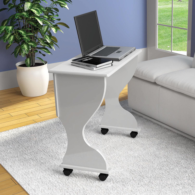 Mesa Dobravel Para Computador C27 Em Mdf Branco