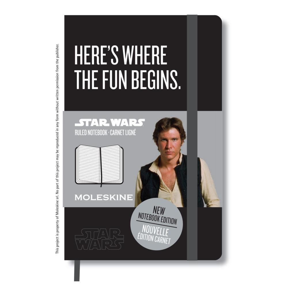 Caderneta Moleskine Ed Limitada Star Wars Capa Dura Pocket 17x44 – Preta