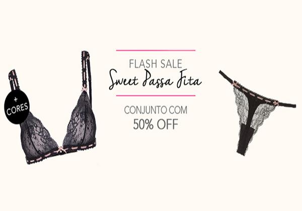 Cupom de 50% de desconto no conjunto! Aproveite o Flash Sale Sweet Passa Fita!