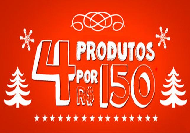 Compre 4 produtos por apenas R$150!