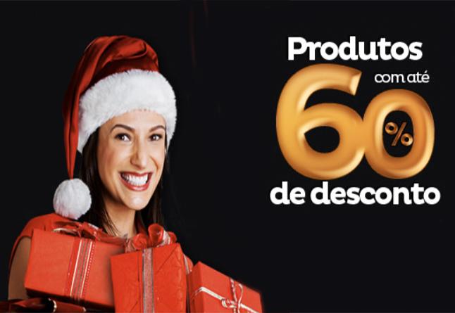 Ofertas especiais com até 60% de desconto para você neste Natal!