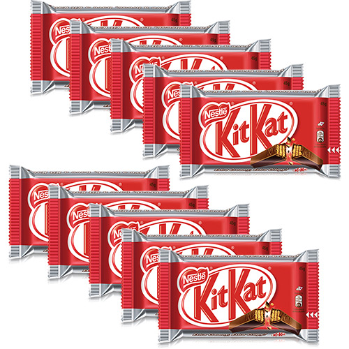 Chocolate Kit Kat 45g – Nestlé (10 unidades)!