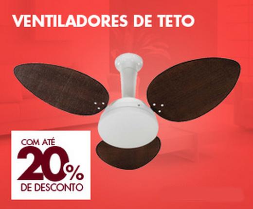 Ventiladores de Teto com até 20% de desconto!