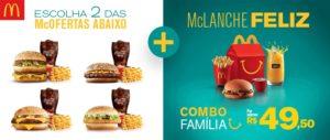 Cupom de desconto McDonalds Combo Familia