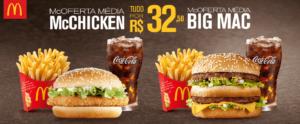Cupom de desconto McDonalds Mcchicken e Big Mac