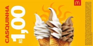 Cupons de desconto McDonald's Casquinha R$1