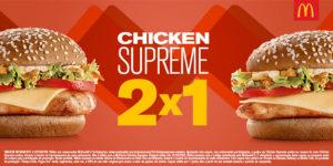 Cupons de desconto McDonald's Chicken Supreme 2 por 1