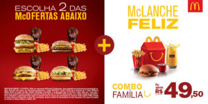 Cupons de desconto McDonalds Combo Família