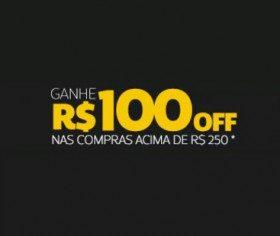 """Cupom: R$100 OFF nas compras acima de R$250 em produtos com selo """"GANHE MAIS"""""""