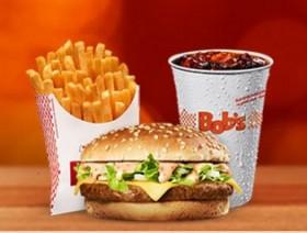 BIG BOB P + BATATA M + REFRI M R$14,00