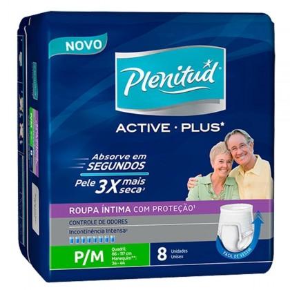 Fralda PLENITUD Geriátrica Active Plus Masculino tamanhos P/M/G/XG Pacote com 8 Unidades!